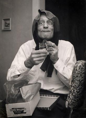 George William Wright clowning around.