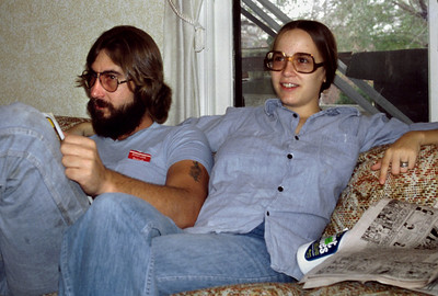 Tom and Lisa Morris at Norma's house. 1978.