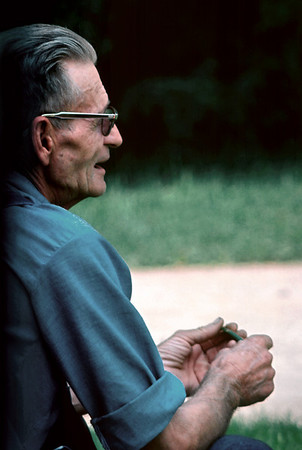 George Wright, Sr. in his yard on North National Ave. 1976