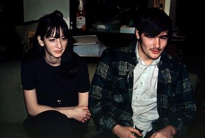 Cara and Chuck Melton at their house, Christmas, 1971.
