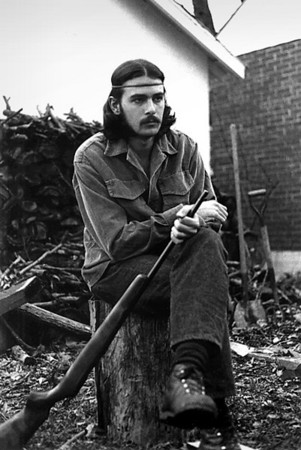 Gary Wright in the back yard on Clay Avenue. Early 1970s.