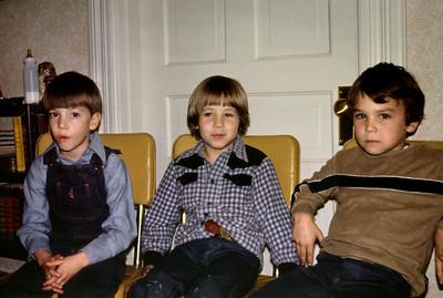 Preston Goodman, Sean Melton, and Shannon Shank at Norma's, 1979.