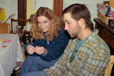 Jennifer and Sean Melton. Christmas at Normas, 1996.