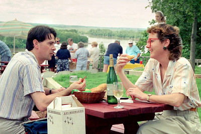 Picnic at a Missouri winery. About 1990.