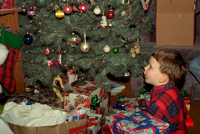 Jake under the tree. Christmas at Normas, 1996.