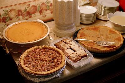 Desserts. Thanksgiving at Cara's, 1998.