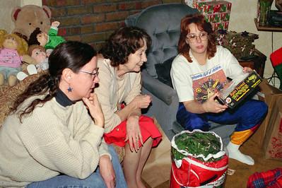 Rita, Norma and Lisa; Christmas at Normas, 1996.