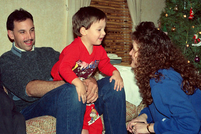 Kevin, Jared, and Dana Sanders. Christmas at Norma's, 1990.