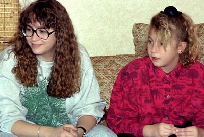 Lisa and Jessica. Christmas at Norma's, 1990.