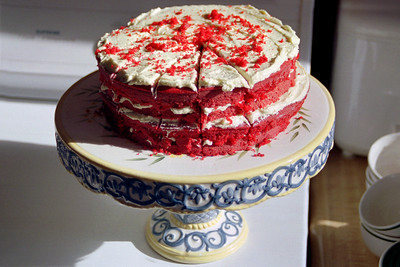 Red velvet cake; Thanksgiving at Cara's, 2002.