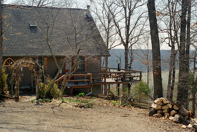 The main house, Rock Eddy Bluff B&B near Rolla, Missouri. Spring, 2001.