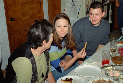 Norma, Jesica and Wes Walkere Sr, Thanksgiving at Cara's, November 2001.