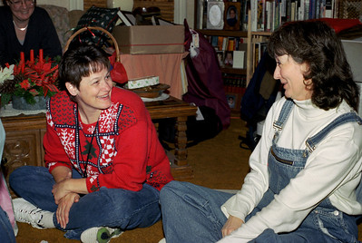 Sisters Dana Sanders and Cara Russell, Christmas at Norma's. 2001.