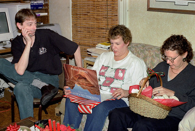 David, Marcia and Rita. Christmas at Norma's. 2001.