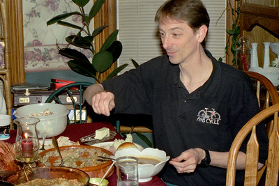 David Wright at the Christmas table at Norma's, December 2001.