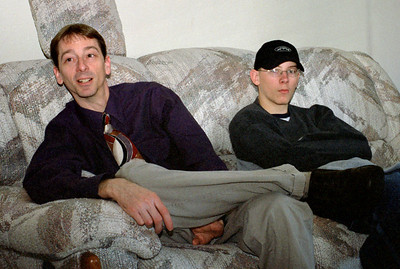David and Brandon Wright, Thanksgiving at Cara's, November 2001.