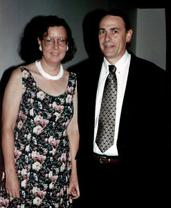 Gary and Rita dressed up for something. June, 2000.
