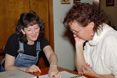 Cara Russell and Rita Wright, Thanksgiving at Cara's, November 2001.
