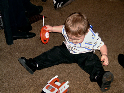Simon plays with his new RC car. Christmas at Norma's, 2006. (File name is incorrect.)