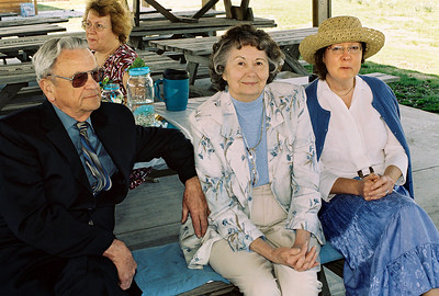 George, Norma, Rita and Marcia at Brandon and Mindy's wedding, April 2008.