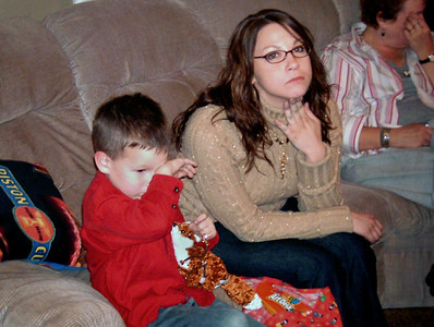 Young Wes and Jessica. Christmas at Norma's, 2006.