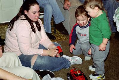 Olivia, Ethan and Simon - Christmas at Norma's - 2006.
