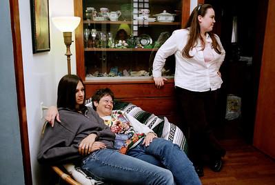 Kelsey, Dana, and Olivia in Rita's living room on W. Mount Vernon Street. November, 2007.