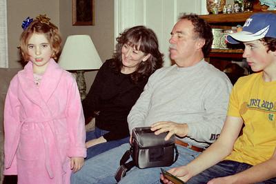 Hannah, Cara, Larry, and Jake - Christmas at Norma's - 2006.