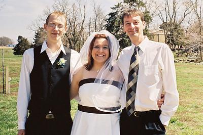 Brandon, Mindy and David Wright, April 2008.
