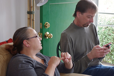 Lisa and David. Thanksgiving at Rita's, 2012
