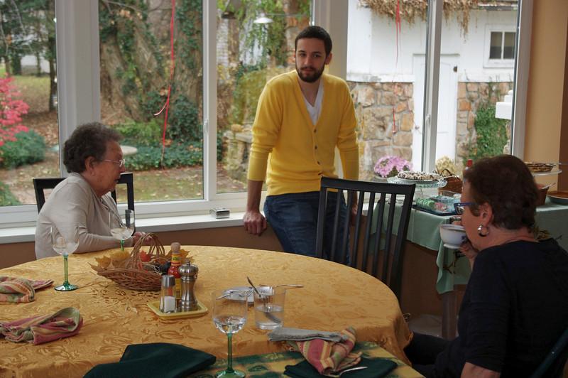 Lela, Jared and Rita. Thanksgiving at Rita's, 2012