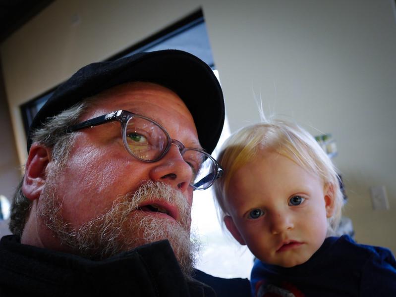 Levi hangin with Grandpa