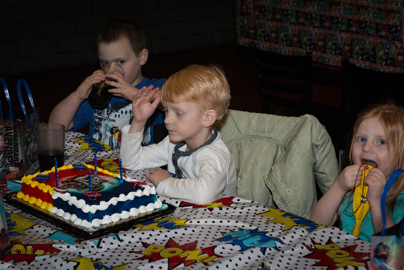 Logan's 5th Birthday Party Ok, Time for cake!