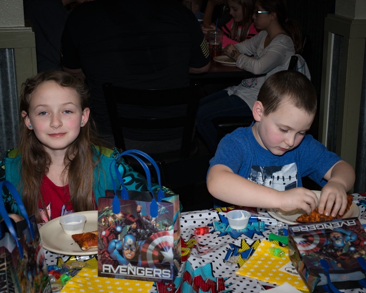 Logan's 5th Birthday Party Pizza!