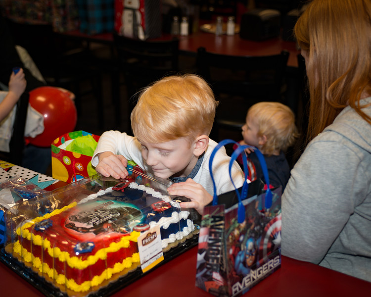 Logan's 5th Birthday Party Superhero Cake!