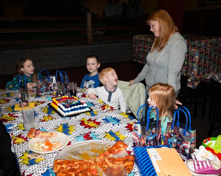 Logan's 5th Birthday Party Everyone sing Happy Birthday!