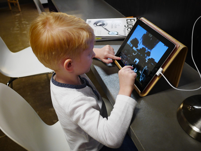 An Ipad with Minecraft makes it better.