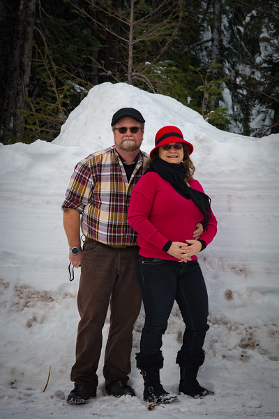 Gary and Sara at the Santiam Sno-Park