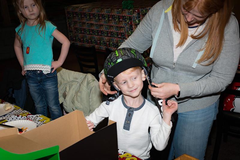 Logan's 5th Birthday Party New Helmet!