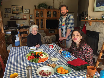 Grandma Lucille, Sean, and Kamille - Cookie Bake 2016