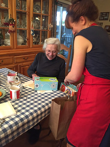 Grandma Lucille's 87th birthday celebration - Cookie Bake 2016