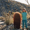 Hilary desert campout with Dad March 1993
