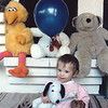 Hilary 1 year old, Fullerton CA - the beginnings of her stuffed animal collection