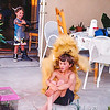 Hilary in Grandma Lucille's lion costume