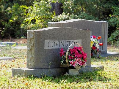 Covington family headstone - Rockingham, NC
