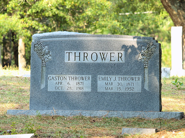 Thrower family Headstone- Rockingham, NC  BORN:  DIED: