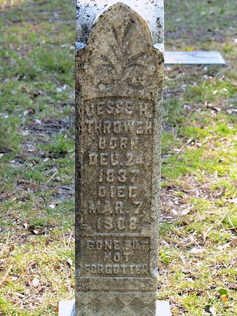 Jesse H. Thrower BORN: December 24, 1837 DIED: March 7, 1808