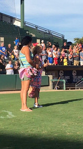 Kiana sings at Pelican Stadium