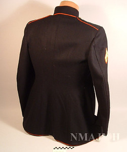 Jacob Joseph Mirsky's WWII USMC Dress Blues Jacket with Corporal Stripes