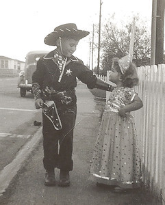 Purim 1952, San Diego, California - Ellis Mirsky and Phyllis Jayne Mirsky